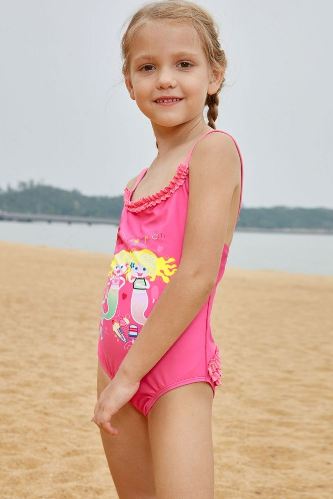5d77b600b300a US  4.03-Pink Little Mermaid Princess Teddy Swimsuit Dropshipping
