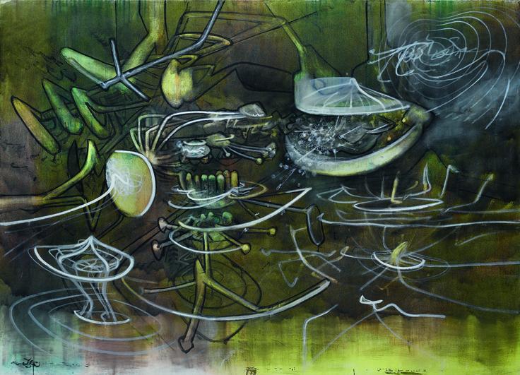 Matta Aujourd'huître 1971 200 x 246 cm acrylic on canvasMatta Aujourd'huître 1971 200 x 246 cm acrylic on canvas
