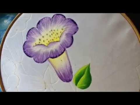 Pintura en tela carpeta pirograbada # 2 con cony - YouTube