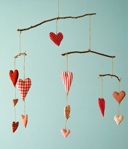 Heart Mobile via Patchwork Pottery on Flickr