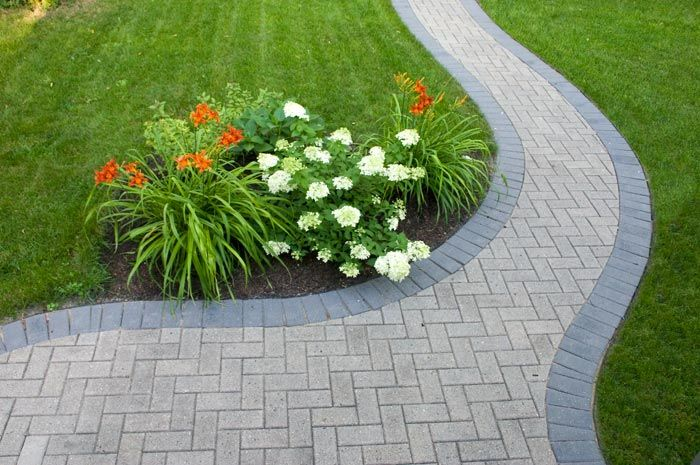 Reused Natural Holland Pavers With New Charcoal Border