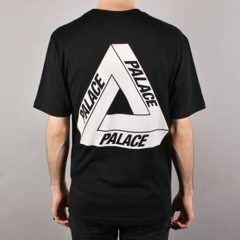 Palace Skateboards Palace Tri-Ferg Glow Skate T-Shirt - Black - Palace Skateboards from Native Skate Store UK