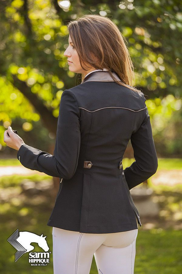 One left !Made in Italy, the Sarm Hippique Azalea Show Coat is simply stunning in both fit and fabric. This elegant show jacket is made from an amazing stretch soft shell fabric that flatters the body