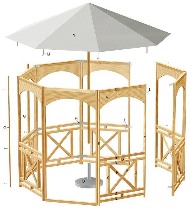 progetto gazebo in legno