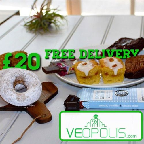 #Treats to your door freshly baked #Vegan selection box - 20 free delivery! @WeAreVeganuary  The box includes:  2 x kinds of Double Chocolate Almond Brownies (1 sea salted caramel 1 peanut butter).  2 x of our Anzac biscuits  2 x Lemon almond cake pieces.  2 x of our awesome baked donuts are also in the pack.  1 x Doisy & Dam #dairyfree choc bar  1 x Plamil dairy free #chocolate bar  ORDER #Veopolis.com   #vegansofig #ukvegans #vegansuk #veganfood #whatveganseat #plantpower #plantbased…