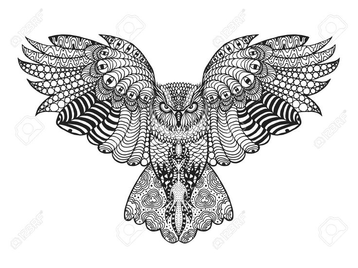 47676520-Birds-Black-white-hand-drawn-doodle-Ethnic-patterned-vector--Stock-Photo.jpg (1300×974)