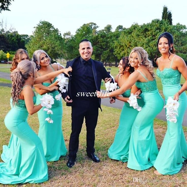 Turquoise Long Bridesmaid Dresses Spaghetti Straps Backless Appliqued Lace Satin 2017 Wedding Guest Evening Gowns Formal Maid of Honor Dress Bridesmaid Dresses Cheap Evening Dresses Online with 98.0/Piece on Sweet-life's Store | DHgate.com