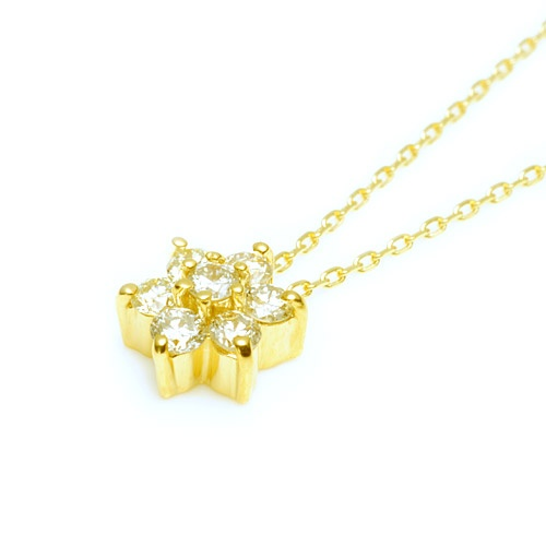 【cullent  カレン】K18 金18 ジュエリー ネックレス アクセサリー Jewelry Flower Necklace ~クリスマスプレゼントに・・~Christmas present~