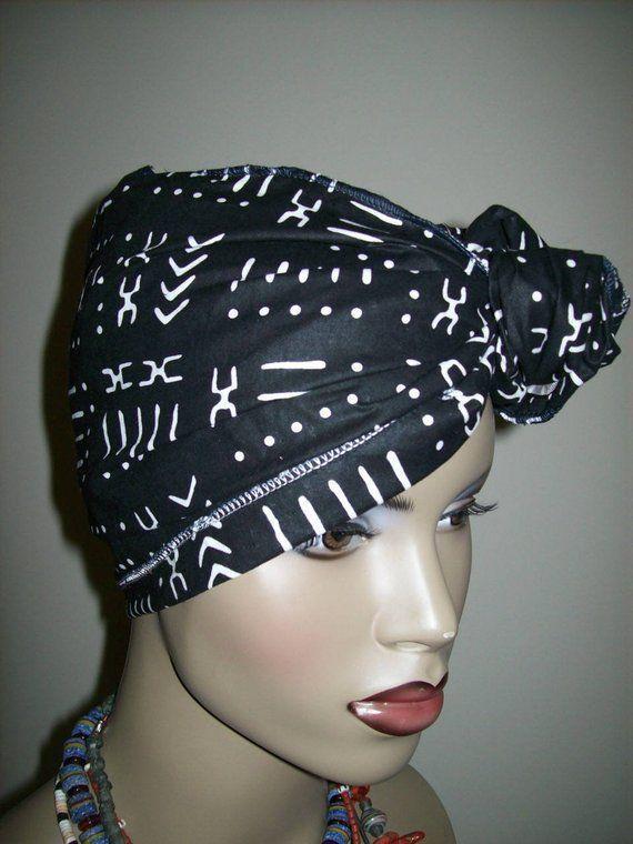 9″x45″ Inch Mini African head wrap, Head Scarf Fabric, DIY Head Wrap fabric/ Sca…  – Head Band