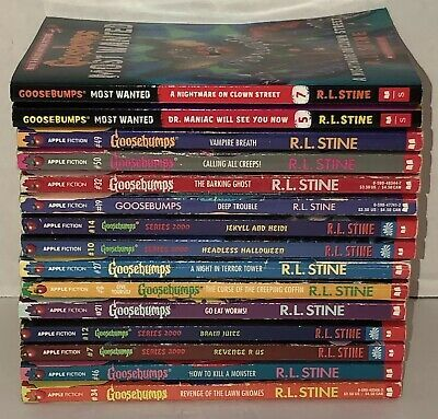 VTG Goosebumps Books R.L. Stine Apple Fiction Scholastic