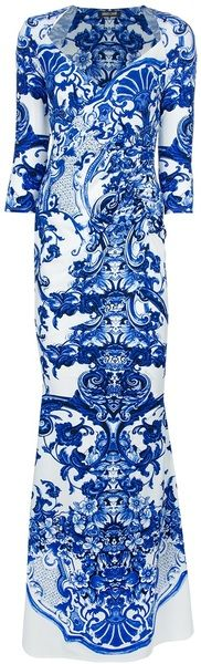 """Printed Fishtail Dress - """"OH MY SWOON""""  CAVALLI"""