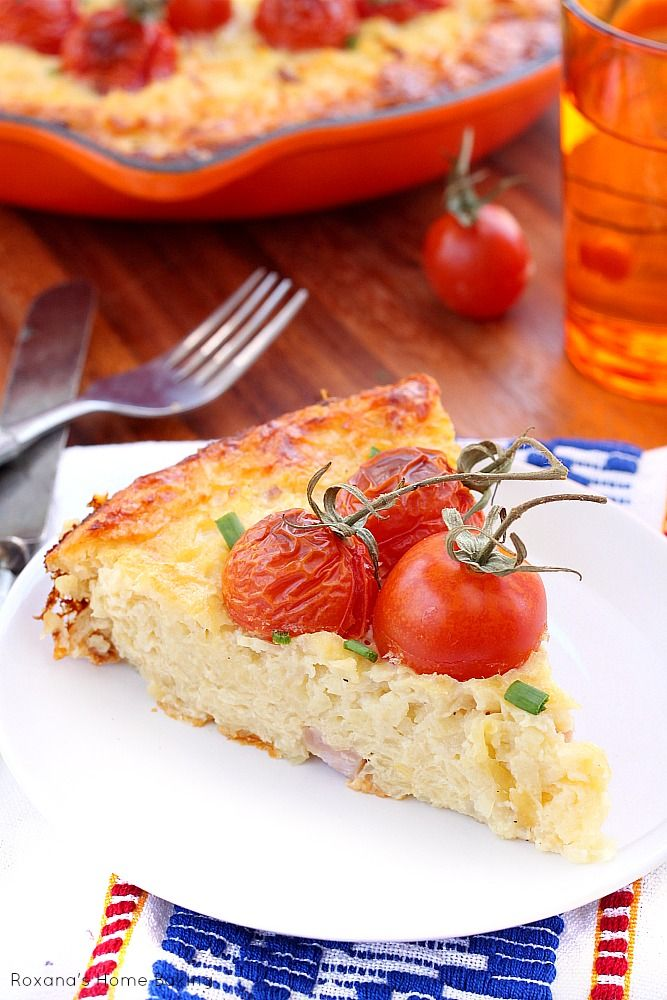 Lightened up loaded potato and cheese frittata recipe