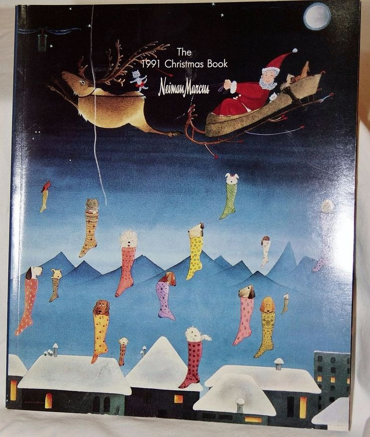 Vintage Neiman Marcus Christmas Catalog 1991 Book Hoiday Gift Fashion Cover Art