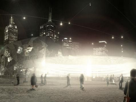 Lighting up winter at Federation Square