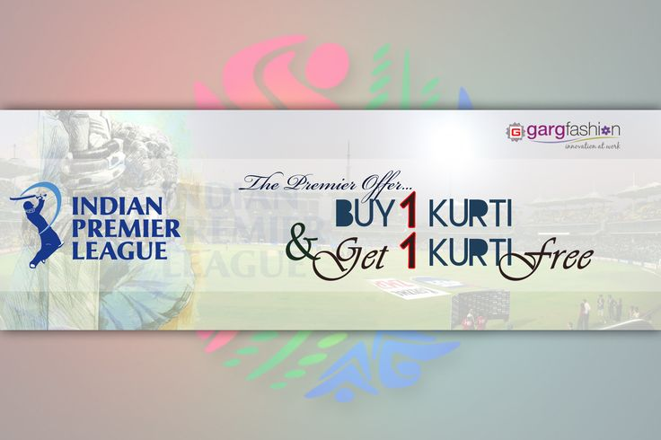""""""" BUY 1 KURTI & GET 1 FREE """" IPL 2016 Offer.. (The Premier Offer) Click here for get this offer.. http://gargfashion.com/Indian-Wear/Kurtis-c110c113.html If any query... Whatsapp us on - """"7046181337"""" Mail id - info@gargfashion.com"""