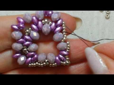 Tutorial Perline: Orecchini SUNFLOWER con rivoli e cipollotti |Beading Tutorial| Lunatica Creazioni - YouTube