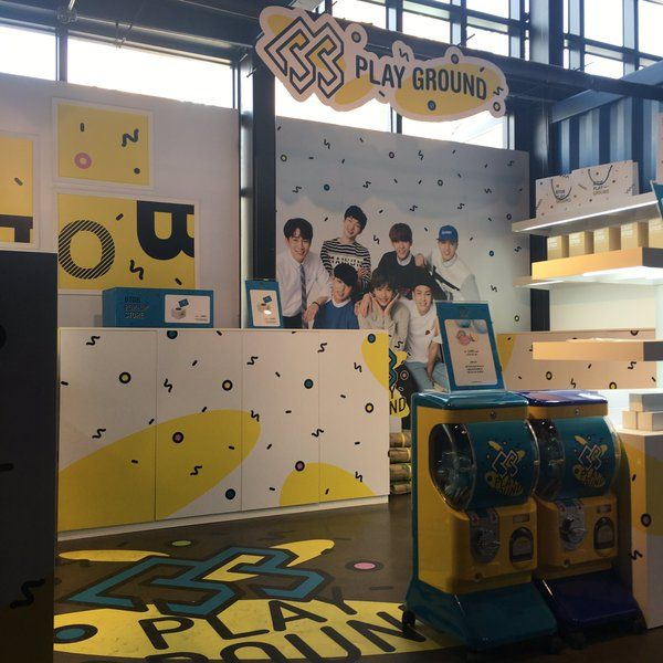 Btob pop-up store is NOW OPEN at Common Ground Gate 2! Please come and visit! There are lots of BTOB MDs you can buy. Also take a picture with BTOB (sticker picture machine is provided) Have fun! #KPOP #CUBE #BTOB #REMEMBERTHAT