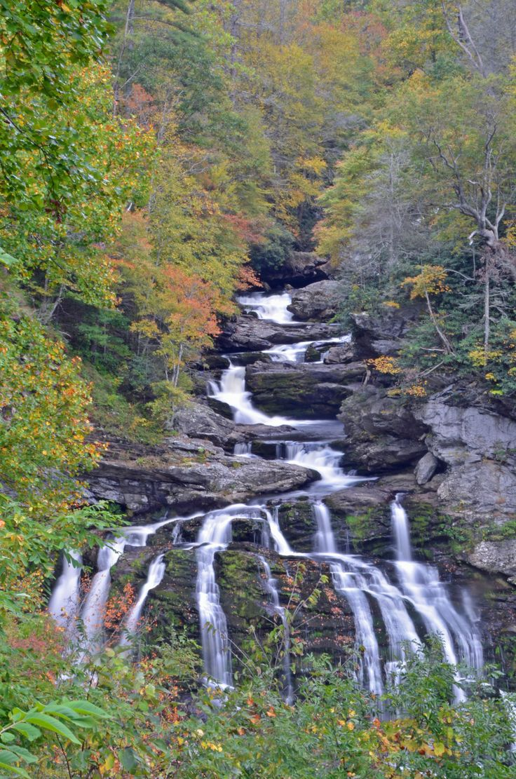 Cullasaja Falls, between Highlands and Franklin, North Carolina.