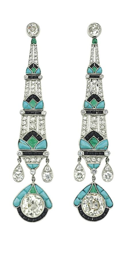 Fine Jewelry 3 Pair Green Turquoise Sterling Silver Earring Sets CxuFvw