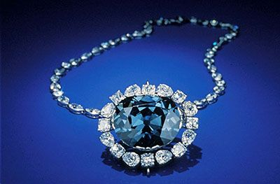 Perhaps one of the most well-known diamonds in the world, The Hope Diamond has a long, and supposedly cursed history. It was first owned by King Louis XIV of France in 1668, before it was stolen and later appeared in the English royal court. The 45.52-carat blue diamond now resides in the Smithsonian Institution in Washington, D.C.   - Veranda.com
