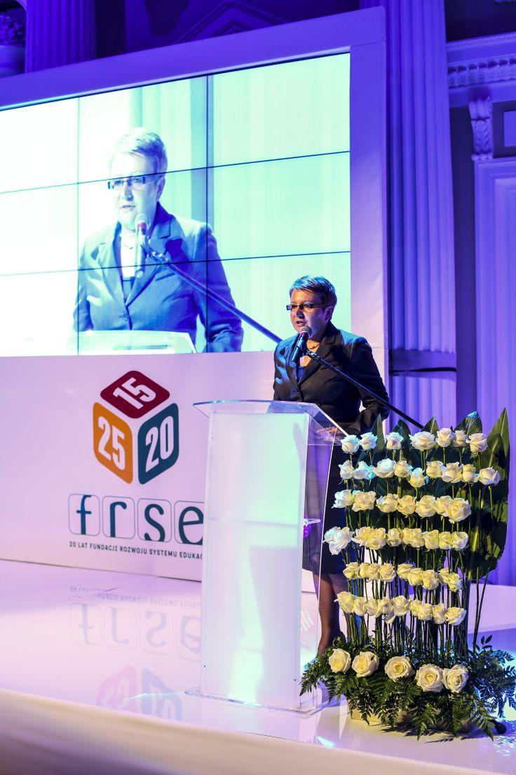Pani minister podkreśliła, że Fundacja Rozwoju Systemu Edukacji stała się modelową instytucją, którą inni wskazują jako wzór.