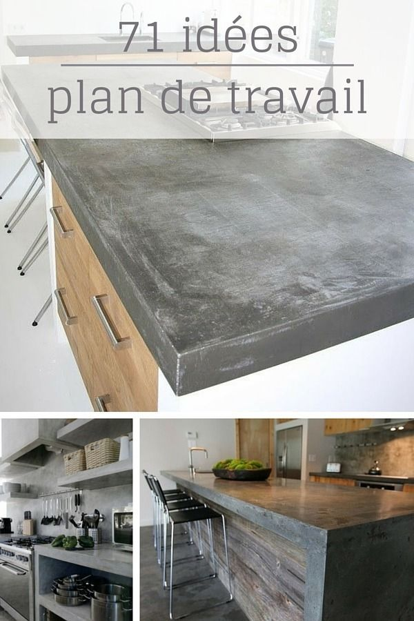 1021 best cuisines images on Pinterest Kitchen ideas, Kitchen - fixer plan de travail cuisine