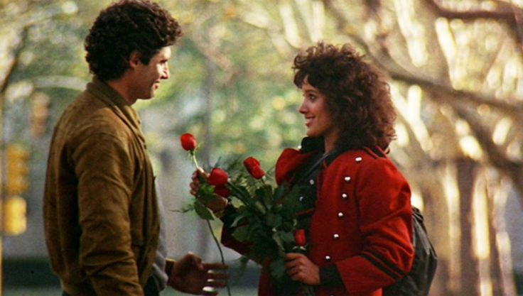 """Flashdance"", directed by Adrian Lyne. Michael Nouri as Nick Hurley and Jennifer Beals as Alex Owens"