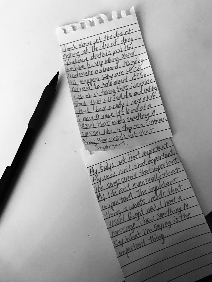Tyler Joseph quote handwritten