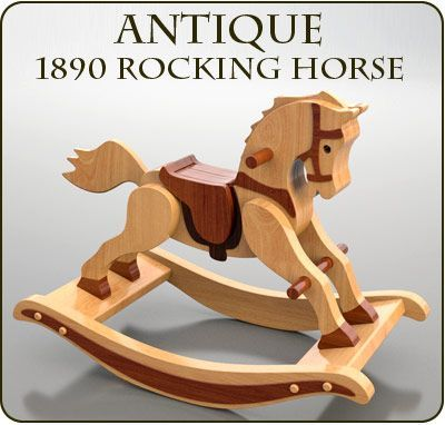 Antique 1890 Rocking Horse Wood Toy Plan Set