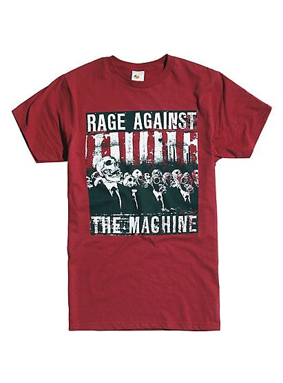 Rage Against The Machine Skull Men T-ShirtRage Against The Machine Skull Men T-Shirt, BURGUNDY