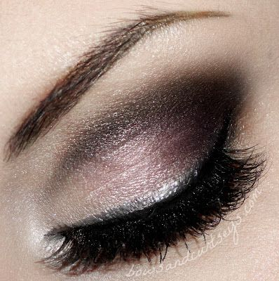 """"""".Bows and Curtseys...Mad About Makeup."""" I really like this smokey eye look. She calls it Brilliant Bride"""