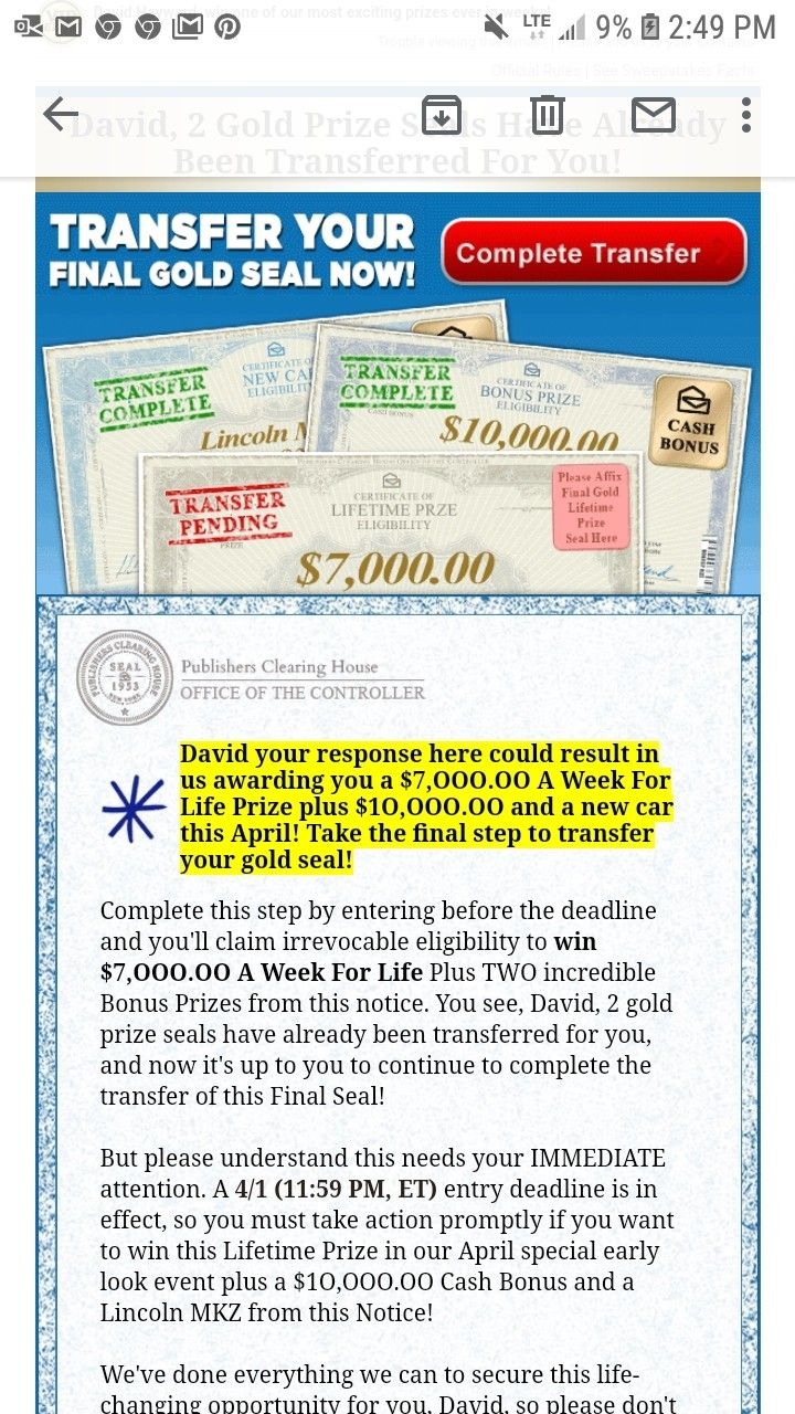 Pin by Quentindavidhayward on Publisher clearing house in