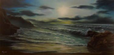 "Saatchi Art Artist ΑγγελικΗ  Aggeliki; Painting, ""Twilight"" #art Size: 40 H x 80 W x 2 cm - NOT AVAILABLE"