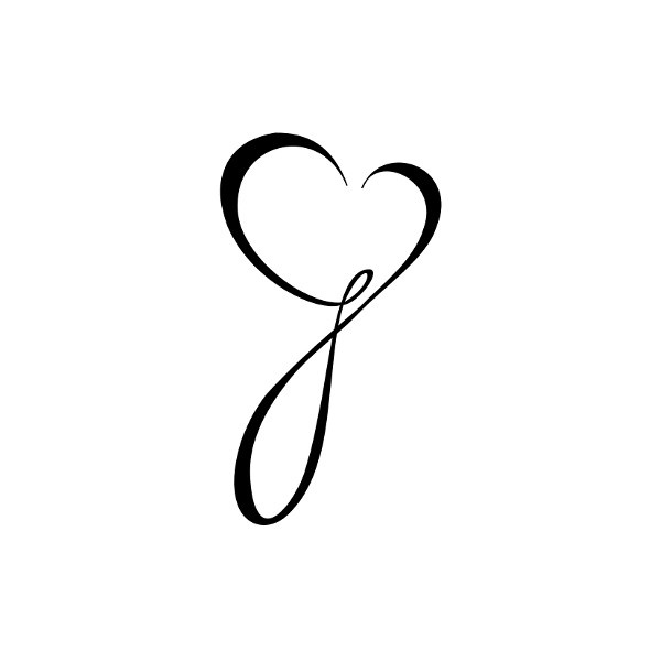 G-heart-tattoo.jpg (394×394) found on Polyvore...want it
