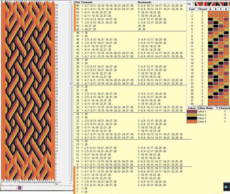 Image result for leaf tablet weaving patterns