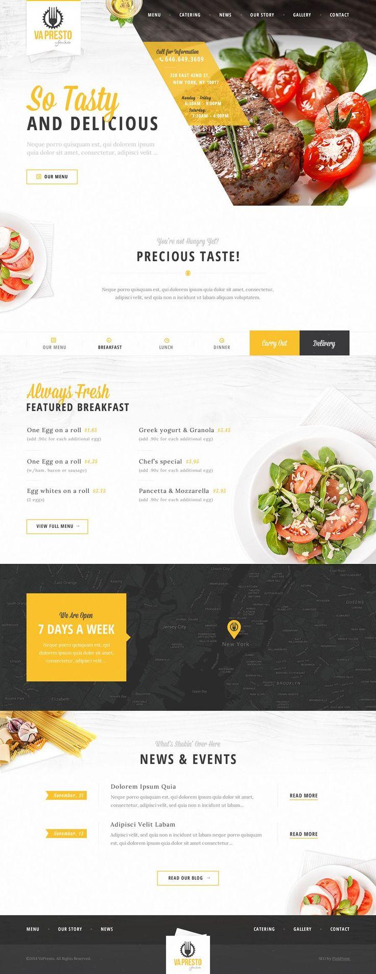 restaurant website idea. #webdesign #inspiration