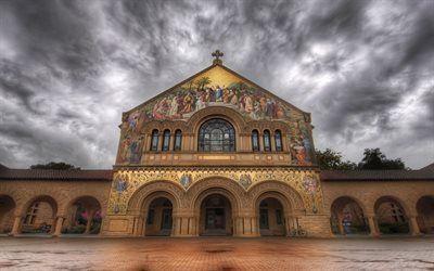 壁紙をダウンロードする 大学, 教会, スタンフォード, ca