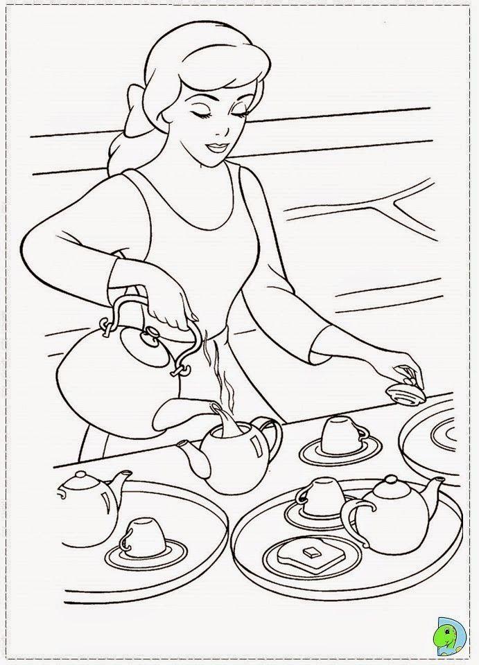 Desenhos Da Cinderela Para Colorir Com Imagens Paginas Para