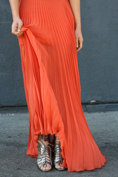 twirl: Colors Combos, Pleated Maxi