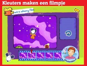 Filmpjes maken met kleuters op digibord of computer op kleuteridee,  Kindergarten, make a movie, games for IBW or computer