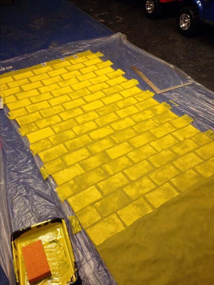 Yellow Brick Road... Used Smart-fab and Sponge Paint... Wizard of Oz Party Ideas That I Did