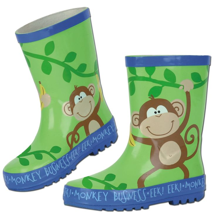 #Kolorowe #gumowce z małpką #dla_dzieci od Stephena Josepha