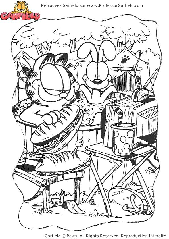 picnic coloring page from garfield category select from 28368 printable crafts of cartoons nature animals bible and many more