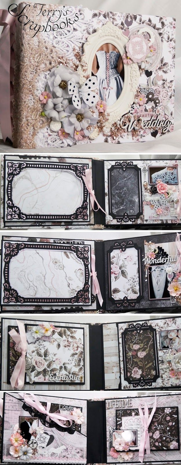 Terry's Scrapbooks: Prima Rose Quartz Wedding Mini Album Reneabouquets Design Team Project