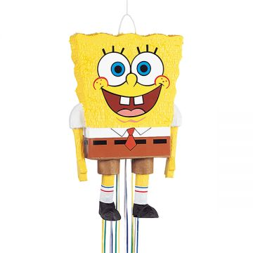 Need SpongeBob to swim away from Bikini Bottom for your party room? The SpongeBob SquarePants 3D Pull Pinata will delight your party guests. No need to find a bat; this pinata uses a pull string to re