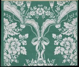 Draperies nouées, passementerie, branches fleuries - référence n° 702 | Centre de documentation des musées - Les Arts Décoratifs
