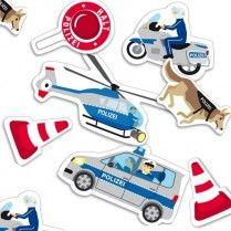 Polizei Konfetti, 24 Teile, 5cm - 10cm, Tisch- und Flächendekoration