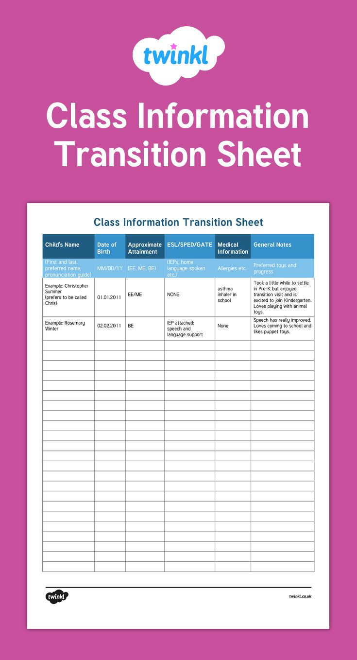 Perfect for Back to School, this is a simple way for teachers to organize information about their new class.