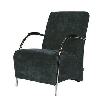 WOOOD fauteuil Halifax ribcord staalblauw kopen? Verfraai je huis & tuin met Fauteuils van KARWEI