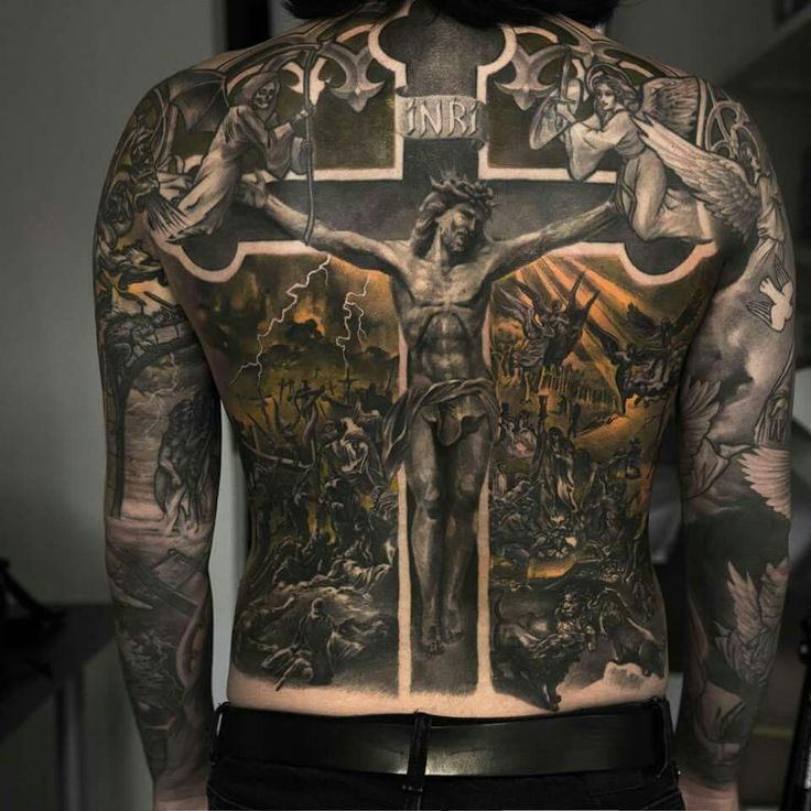 #back #tattoo #jesus
